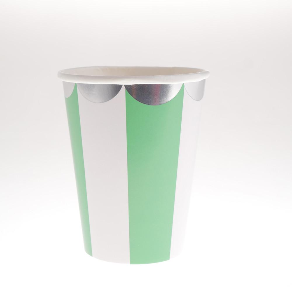 Carousel Green Cups  (Pack of 12)