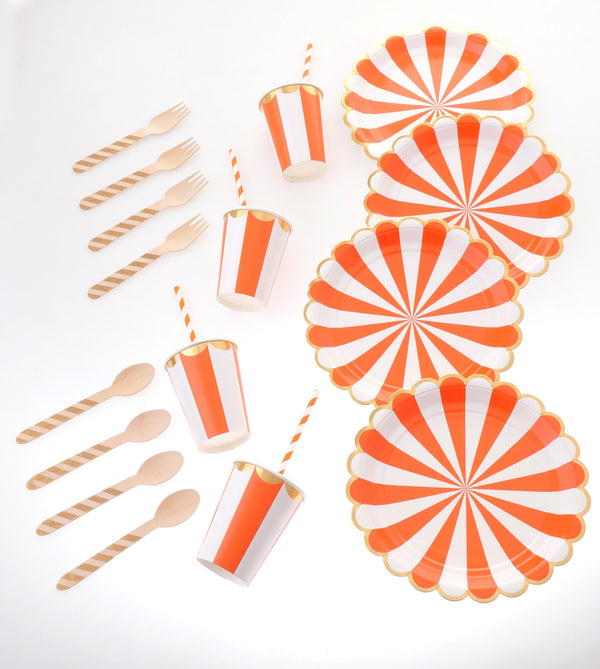 Carousel Orange Tableware Bundle
