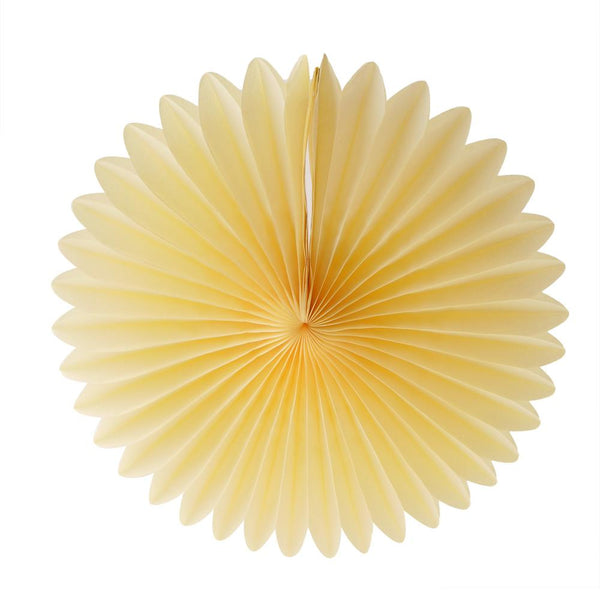 "Paper Fan 12""  -  Yellow"