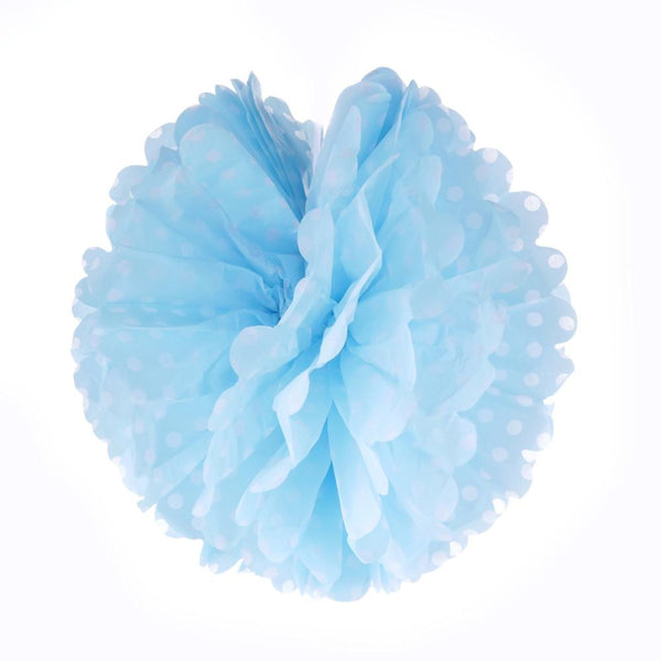 Frou Frou Blue with White Polka 10""