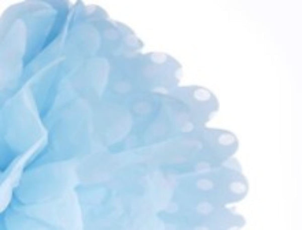 Frou Frou Blue with White Polka 12""