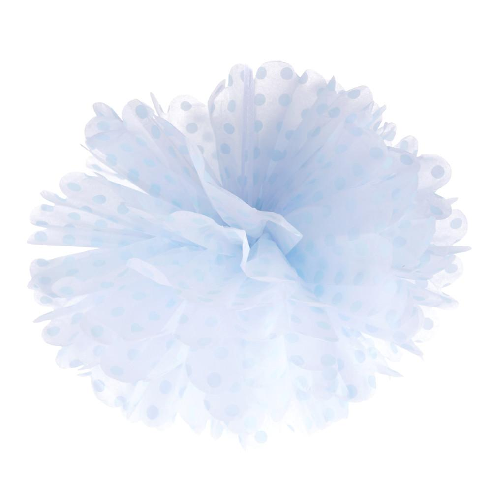 Frou Frou White with Blue Polka 10""