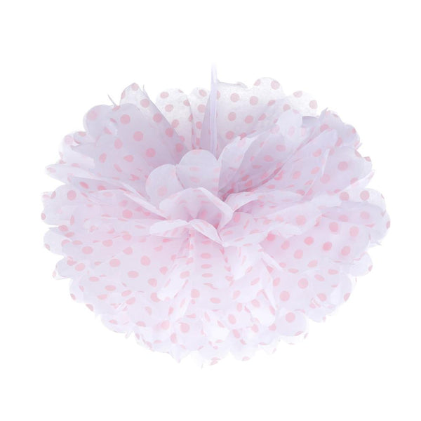 Frou Frou White with Pink Polka 10""