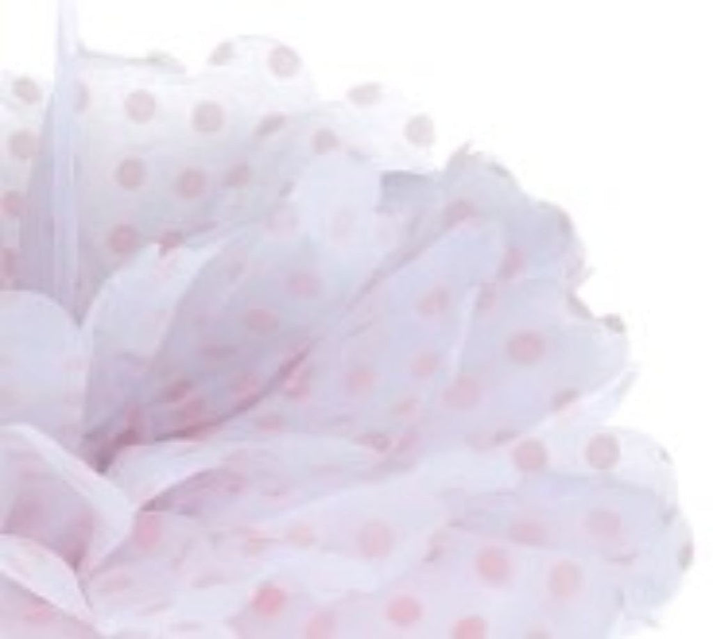 Frou Frou White with Pink Polka 14""