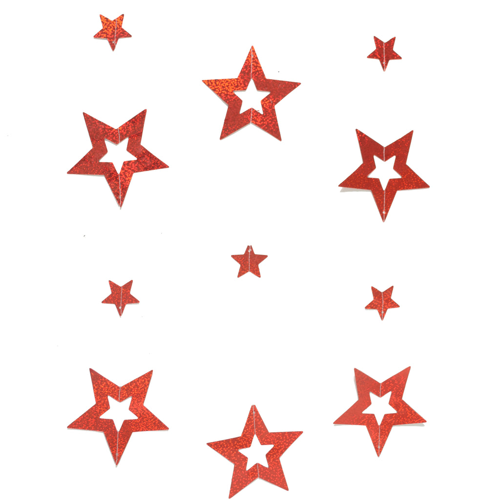 Twinkling Red Stars Garlands