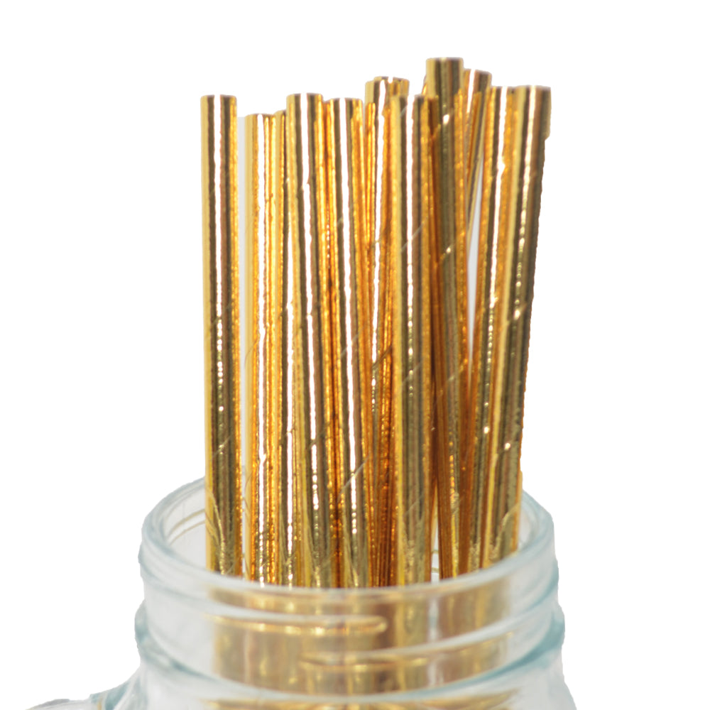 Gold Dipped Straws (Pack of 25)