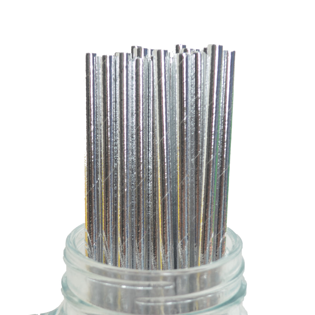 Silver Dipped Straws (Pack of 25)