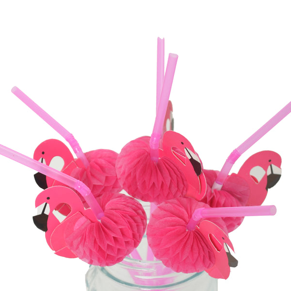 Party Flamingo Straws (Pack of 12)