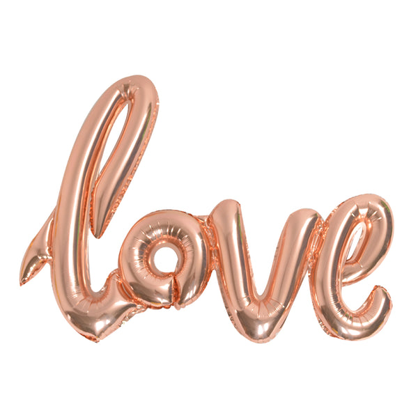 LOVE Rose Gold Balloons