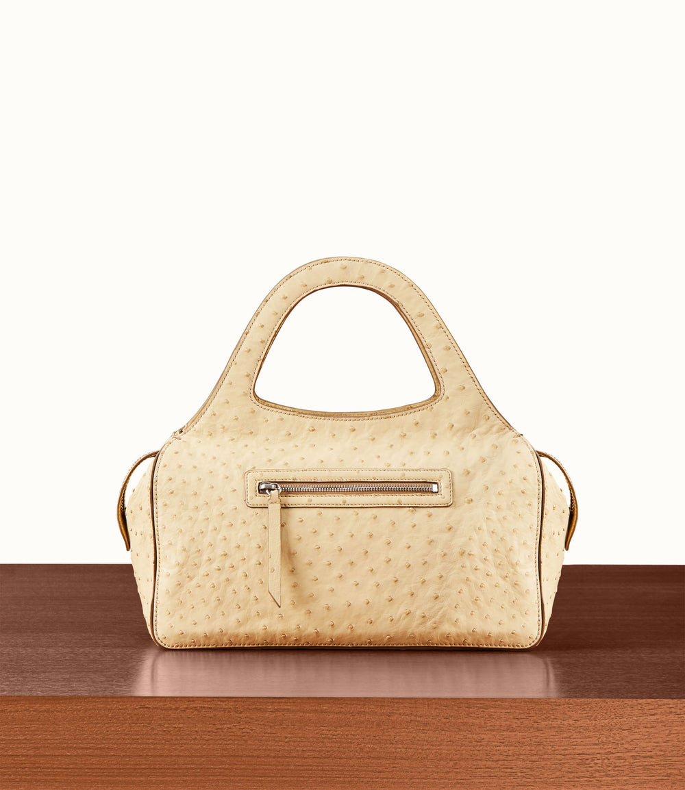 L'Avenue Bag with Shoulder Strap Ostrich Zabaoine