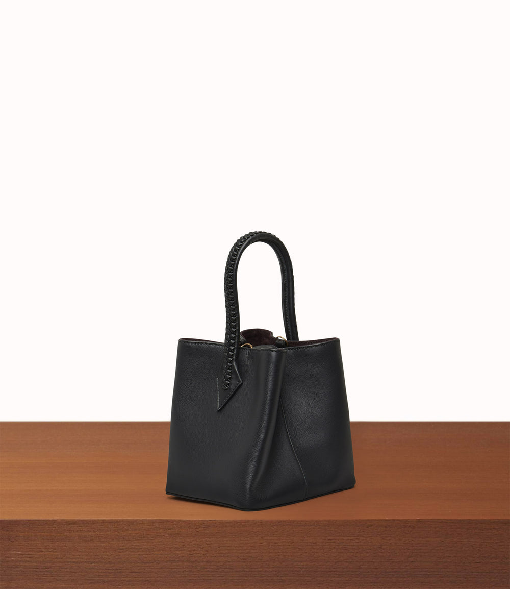 Perriand Mini Smooth Calfskin Black