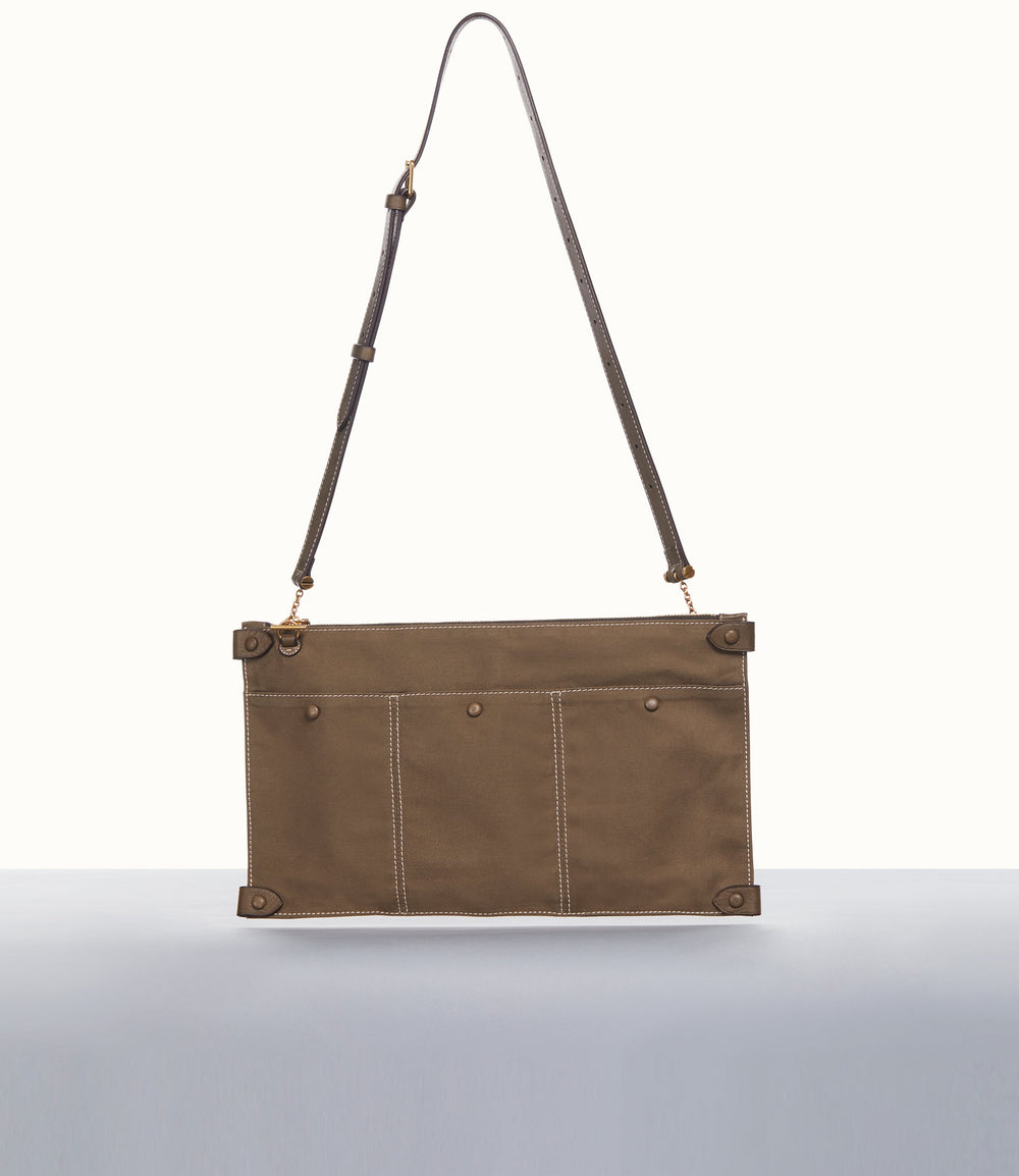 Racine Belt Bag Military Canvas Mushroom