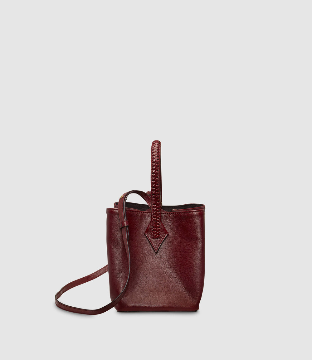 Perriand Mini Collapsible Cabas Buffalo Dark Cherry