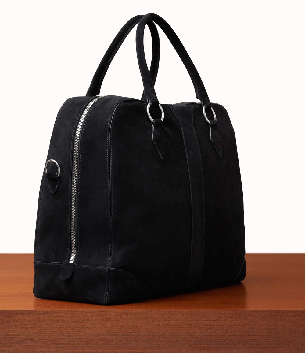 Le Voyage Two to Three Night Bag Suede Black