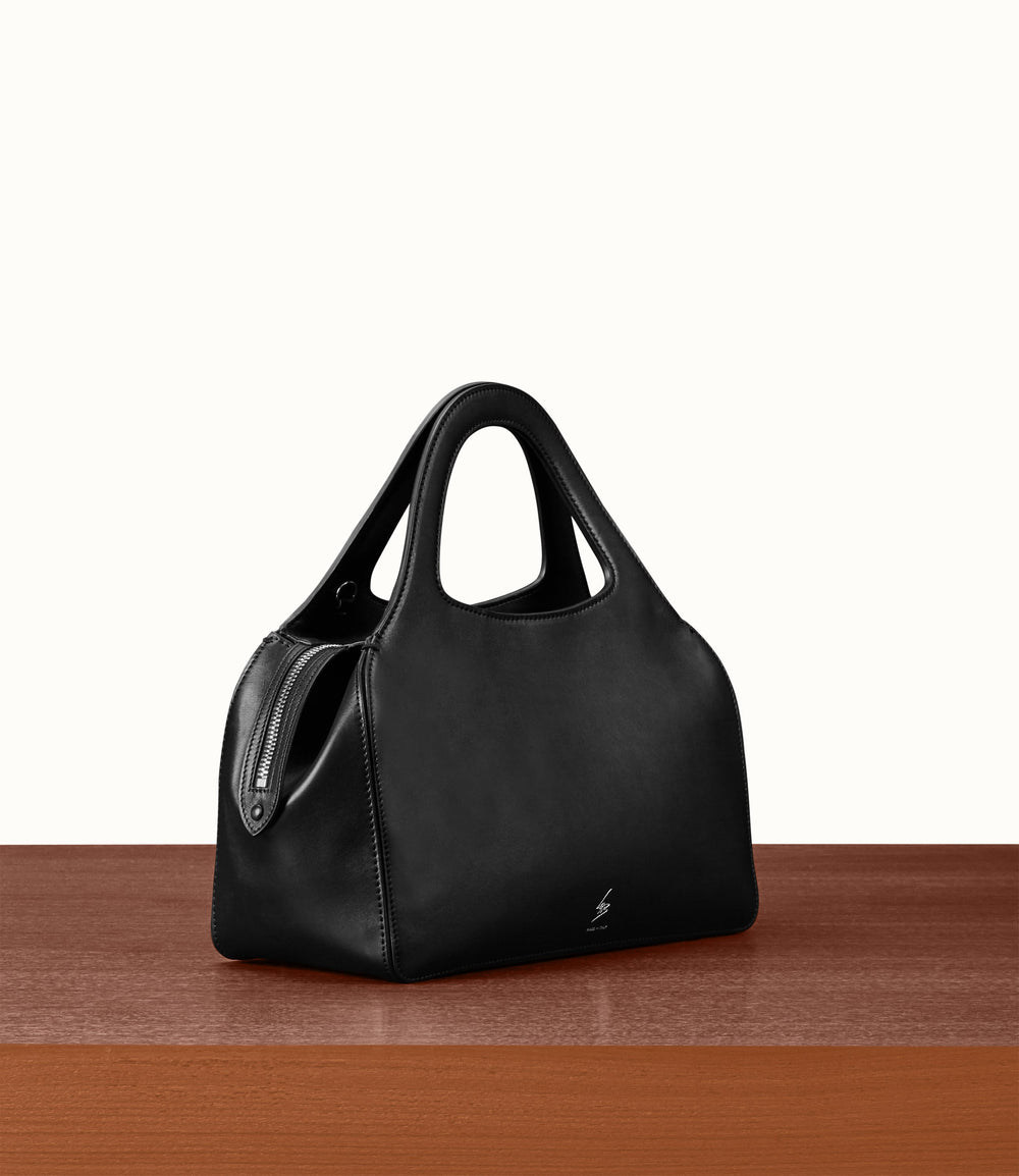 L'Avenue Bag with Shoulder Strap Atelier Calfskin Black