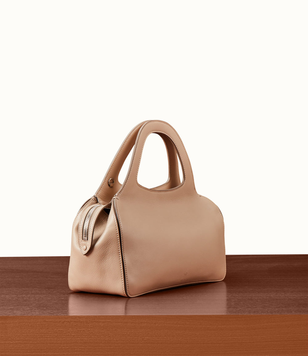 L'Avenue Bag with Shoulder Strap Smooth Calfskin Stone