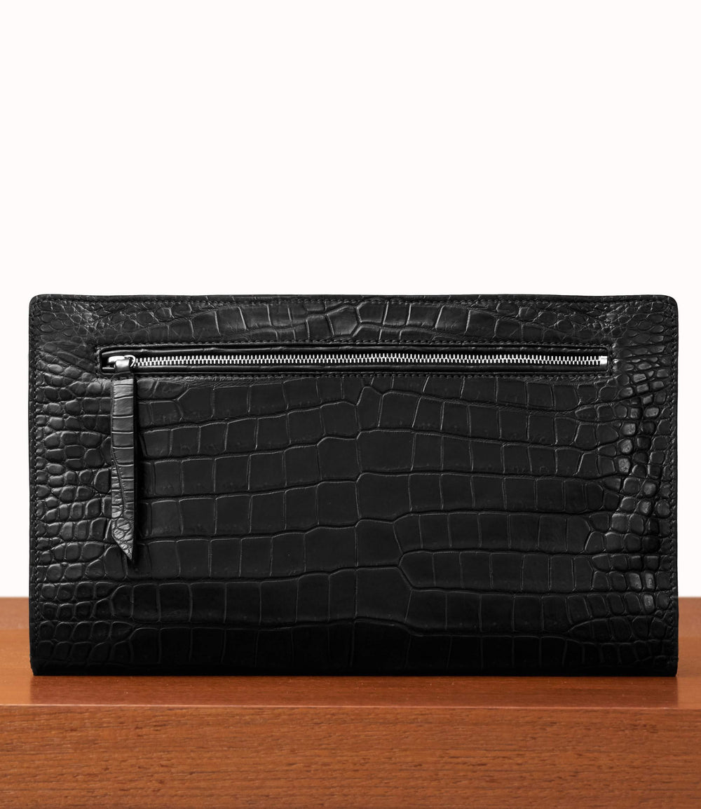Runaway II Essentials Shoulder Bag Crocodile Black