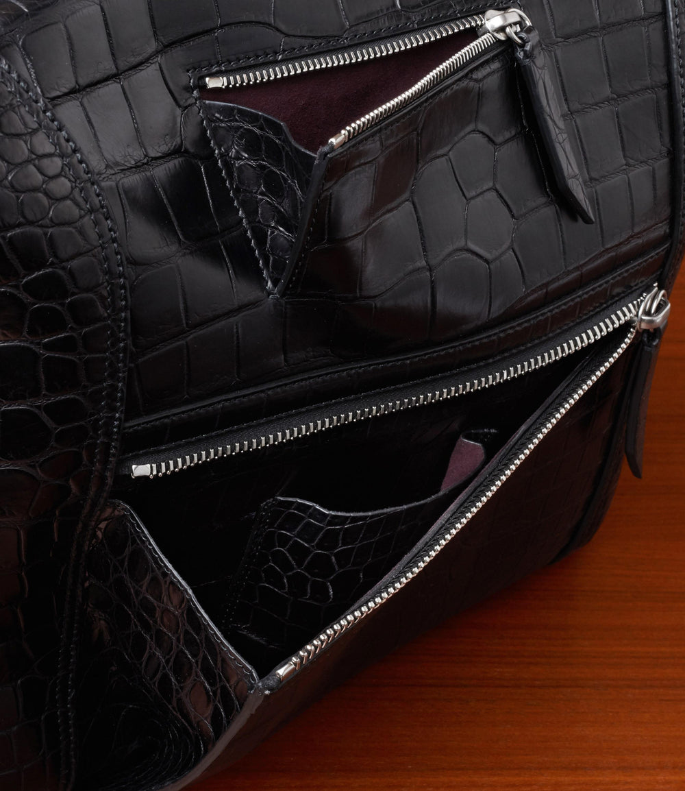 Vagabond All Day Bag Crocodile Black
