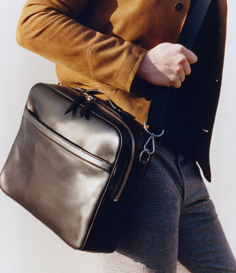 Wanderer Briefcase Buffalo Black