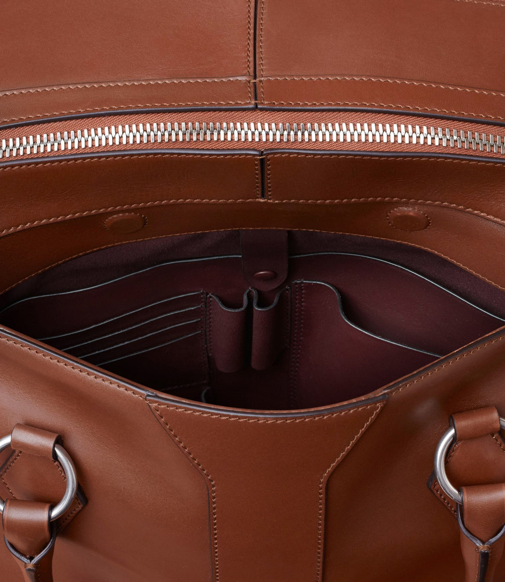 Le Voyage Two to Three Night Bag Atelier Calfskin Havana