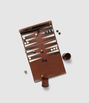 Backgammon Set Buffalo Cognac