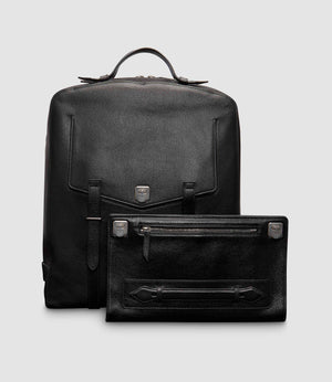 Rider Backpack and Runaway I Essentials Portfolio Buffalo Black