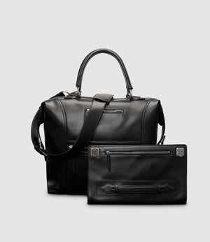 Vagabond All Day Bag and Runaway I Essentials Portfolio Atelier Calfskin Black