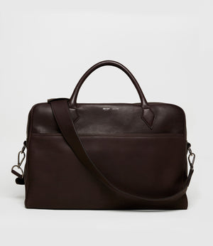 Closer All Day Briefcase Natural Calfskin Cafe