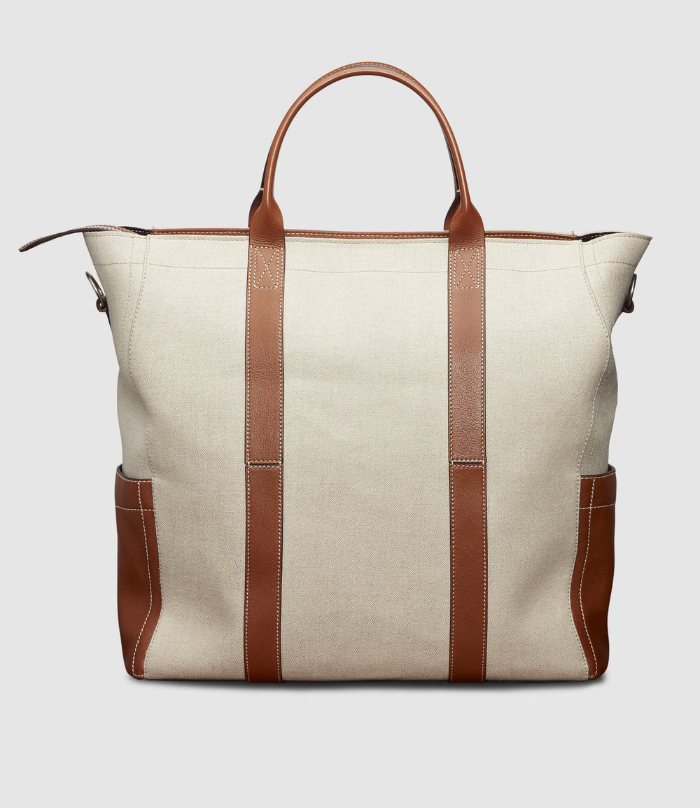 Mariner Zippered Tote Natural Linen