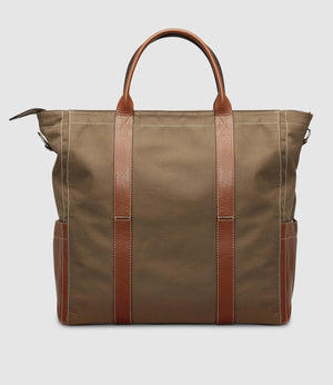 Mariner Zippered Tote Military Canvas Mushroom