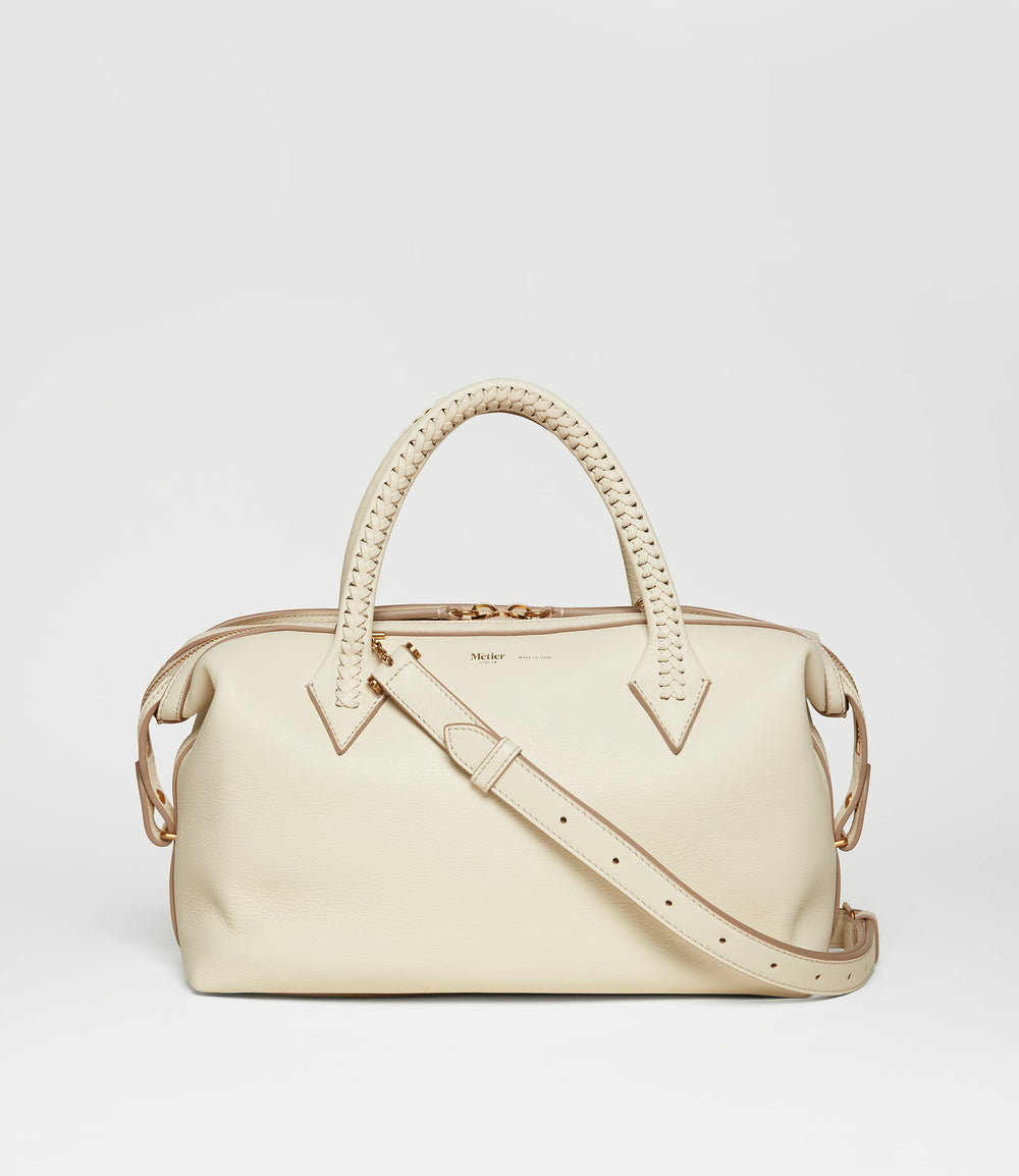 Perriand City Small Smooth Calfskin White Sand