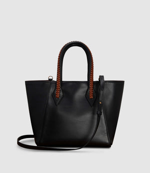 Perriand Medium Atelier Calfskin Black Cognac