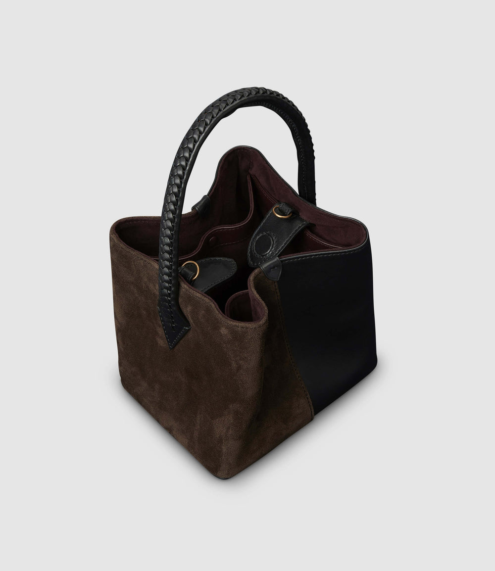 Perriand Mini Atelier Calfskin Suede Black Chocolate