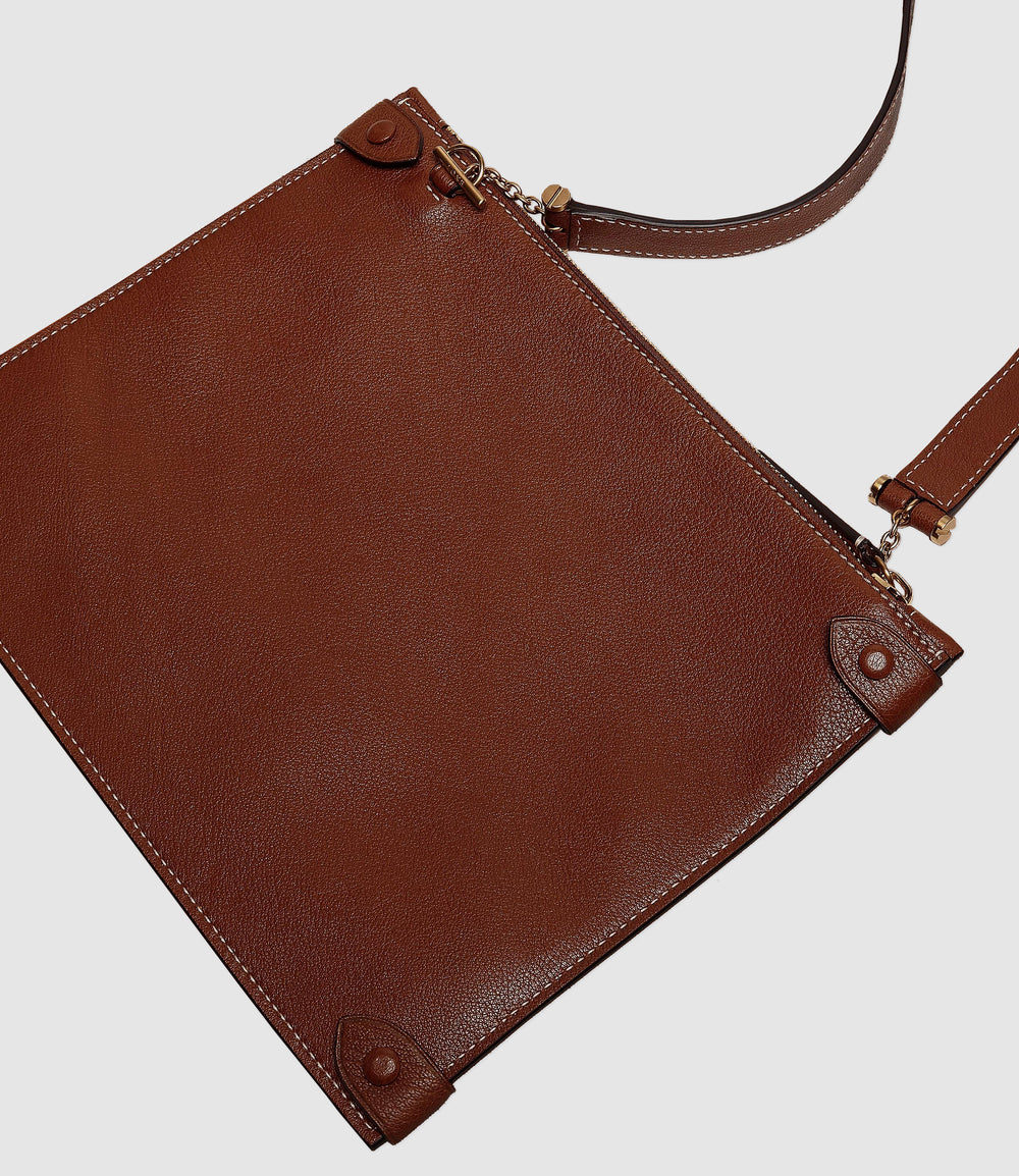 Private Eye Bag with Shoulder Strap Buffalo Cognac