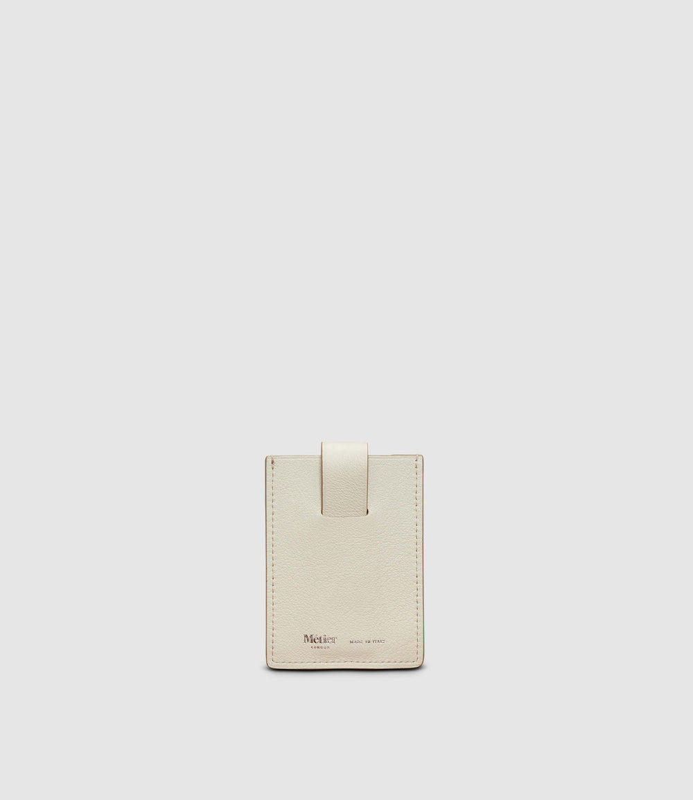 Small Wallet Smooth Calfskin White Sand