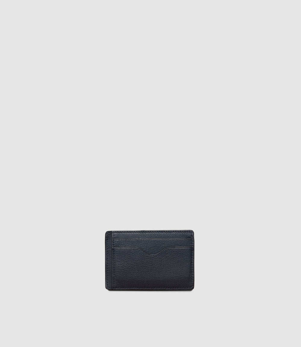Thin Card Case Smooth Calfskin Slate