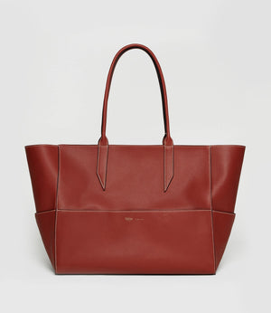 Incognito Small Cabas Bag Smooth Calfskin Sienna