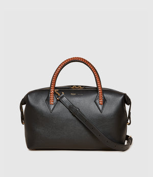 Perriand City Small Smooth Calfskin Black Cognac
