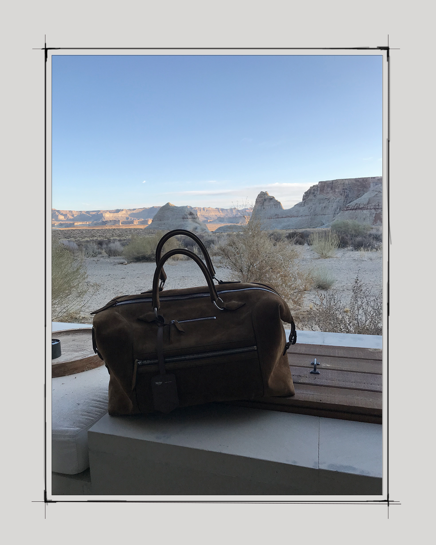 """I traveled with my Metier bag to the most luxurious hotel in the world; the Amangiri in Phoenix; a pairing - like Taylor and Burton, or vodka and caviar - that just made total aesthetic sense. It was quite the ménage a trois..."" - Jonathan Heaf, Chief Content Officer, GQ"
