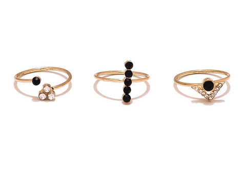 Set Of 3 Gold Rings