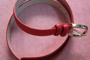 Red Premium Leather Belt For Women