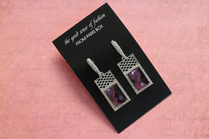 Edgy Crystal Dazzler Earrings