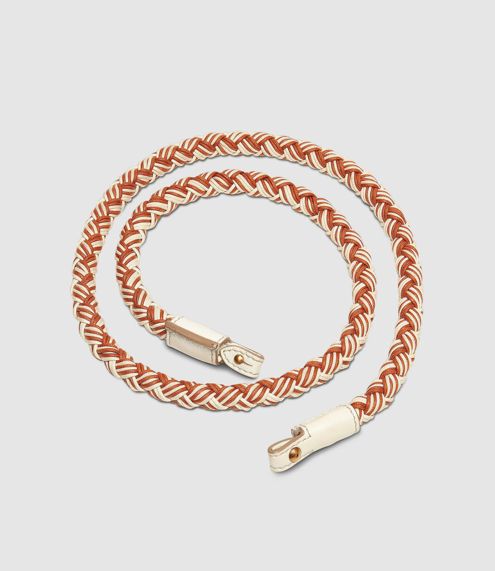 Detachable Corded Strap Sienna/ White Sand