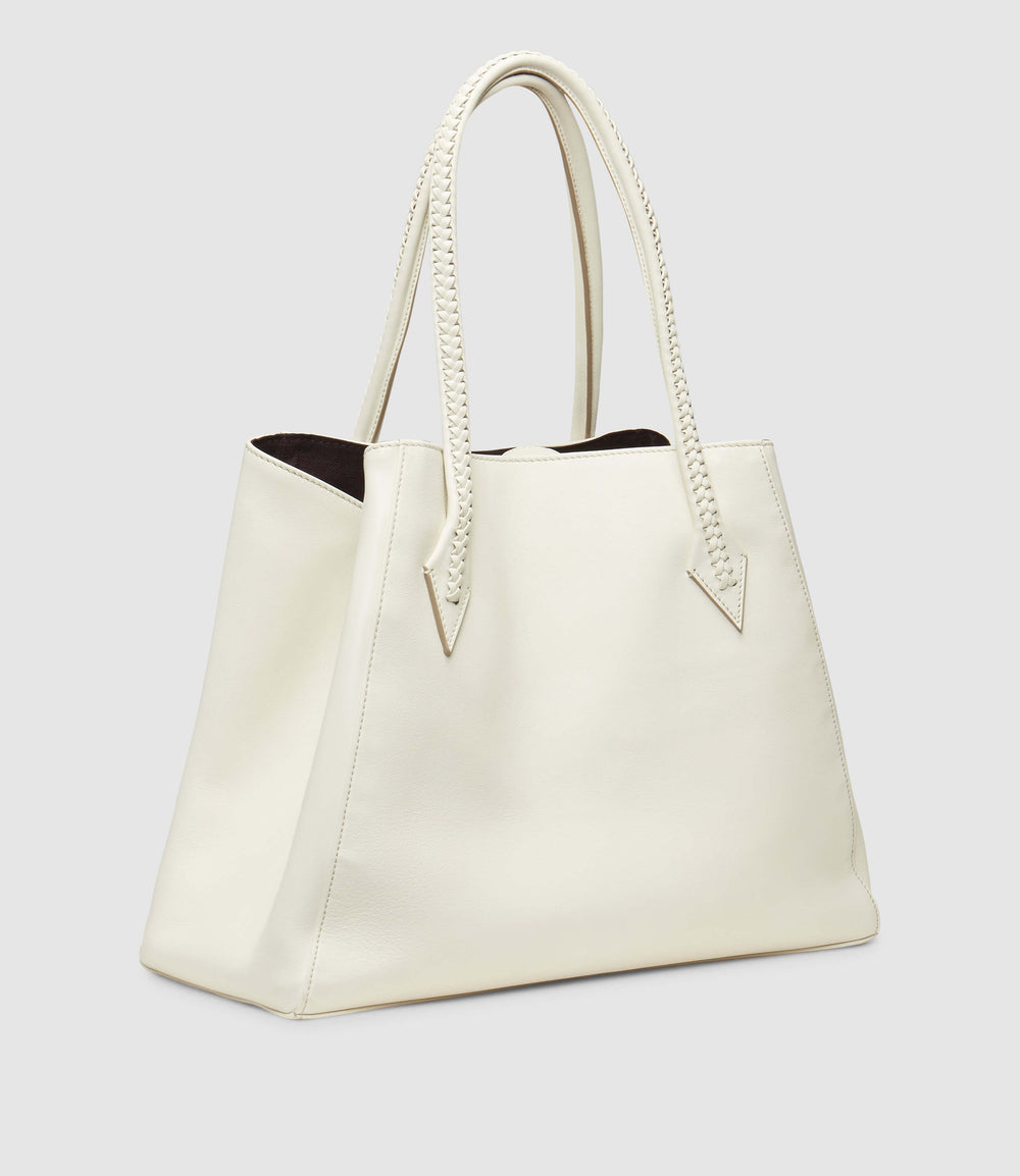 Perriand Collapsible Cabas Smooth Calfskin White Sand