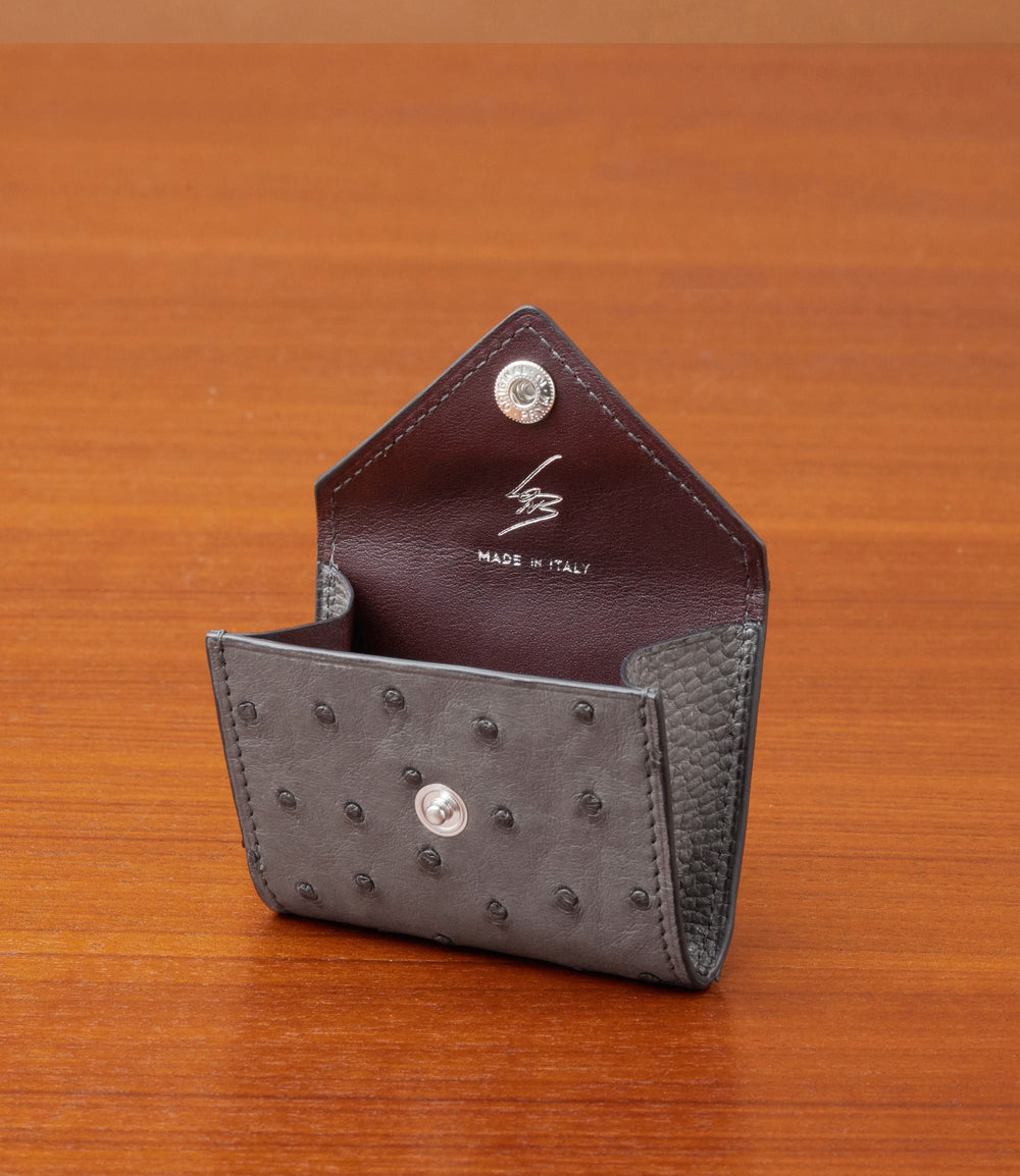 Coin Purse Ostrich Caviar Grey