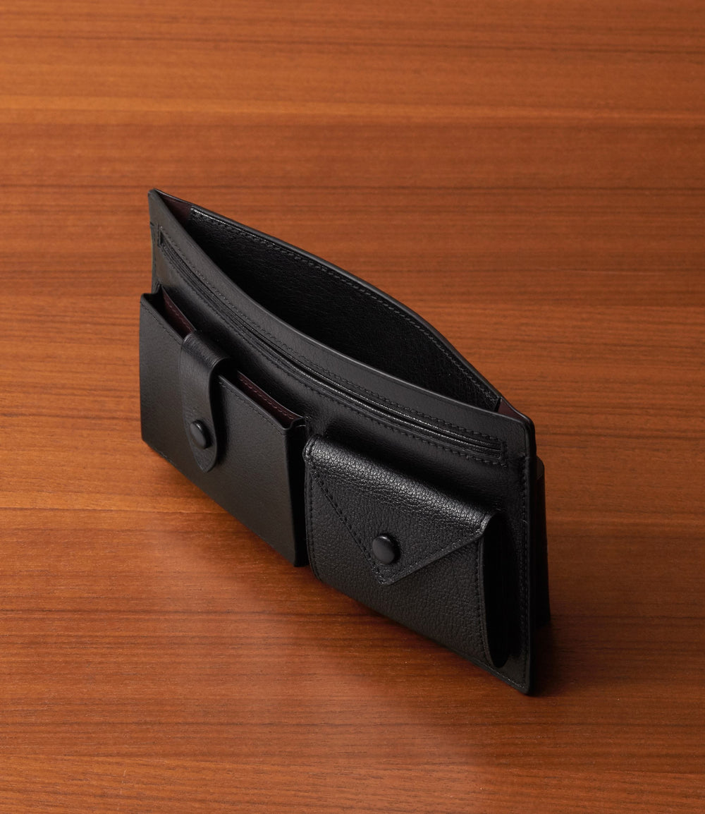 Inside Out Wallet Buffalo Black