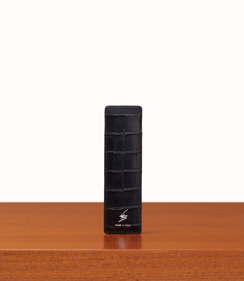 Pen Holder Crocodile Black