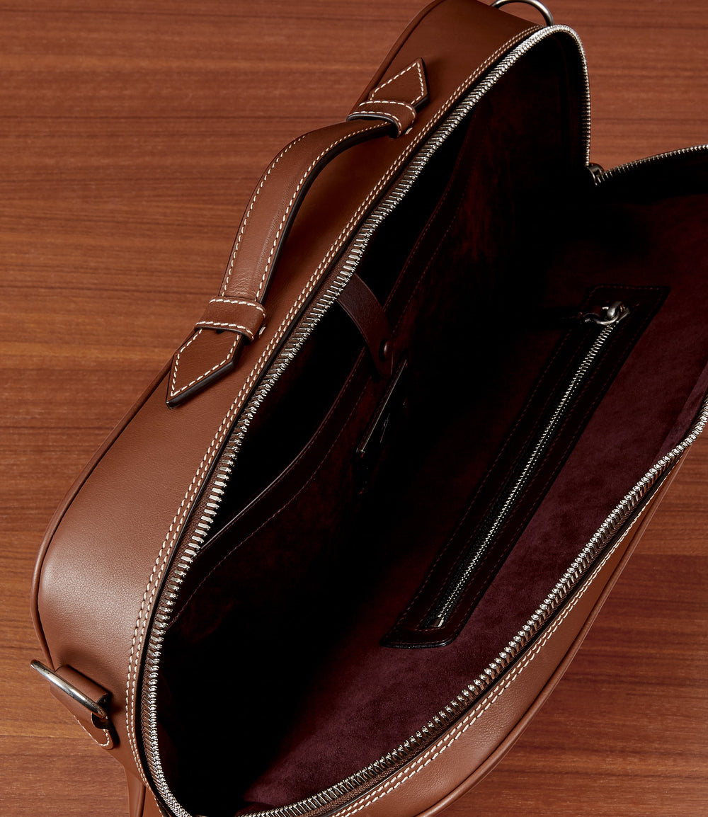 Wanderer Briefcase Soft Grained Calfskin Cuban