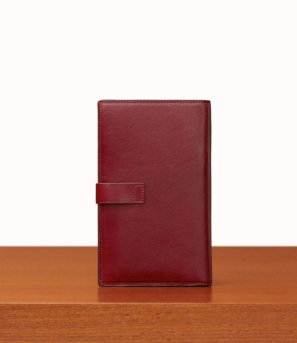 Travel Wallet Buffalo Dark Cherry