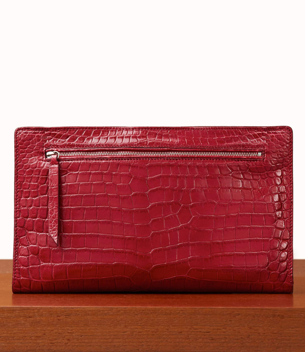 Runaway II Essentials Shoulder Bag Crocodile Classic Red